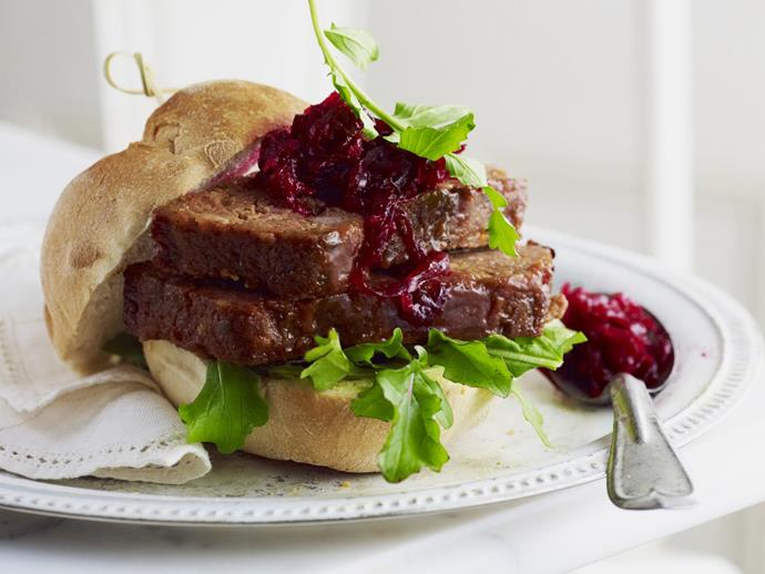"""**[Meatloaf sandwiches with rocket](https://www.womensweeklyfood.com.au/recipes/meatloaf-sandwiches-with-rocket-5056