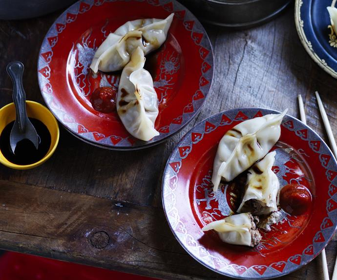 SHIITAKE MUSHROOM and pork soup dumplings