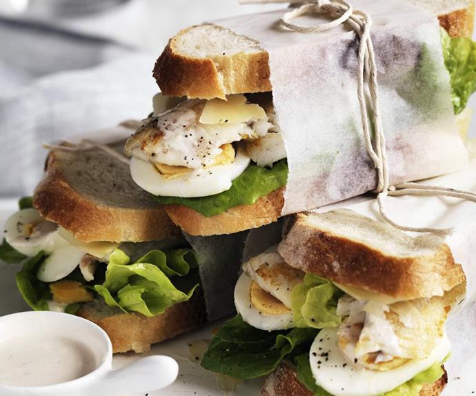 fish sandwiches with caesar dressing