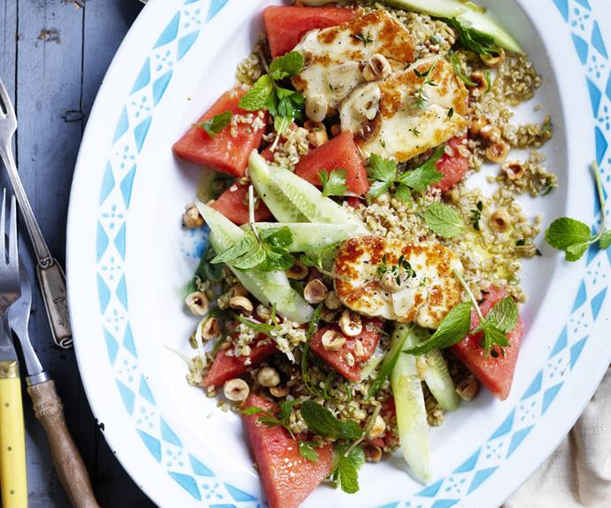 Watermelon Tabbouleh withmarinatedhaloumi