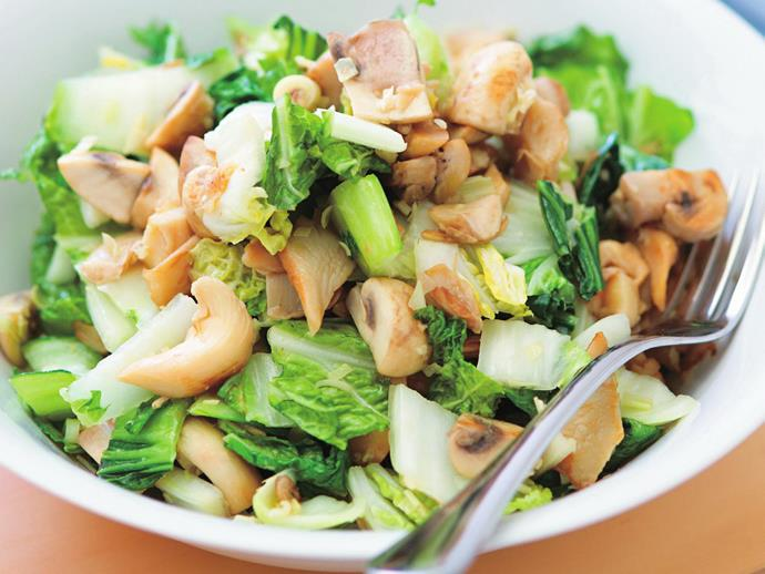 """These [stir-fried greens with mixed mushrooms](https://www.womensweeklyfood.com.au/recipes/stir-fried-asian-greens-with-mixed-mushrooms-15541 target=""""_blank"""") are deliciously healthy. The unmistakeable Asian flavours lift an otherwise ordinary dish to a tasty and satisfying light lunch or dinner."""
