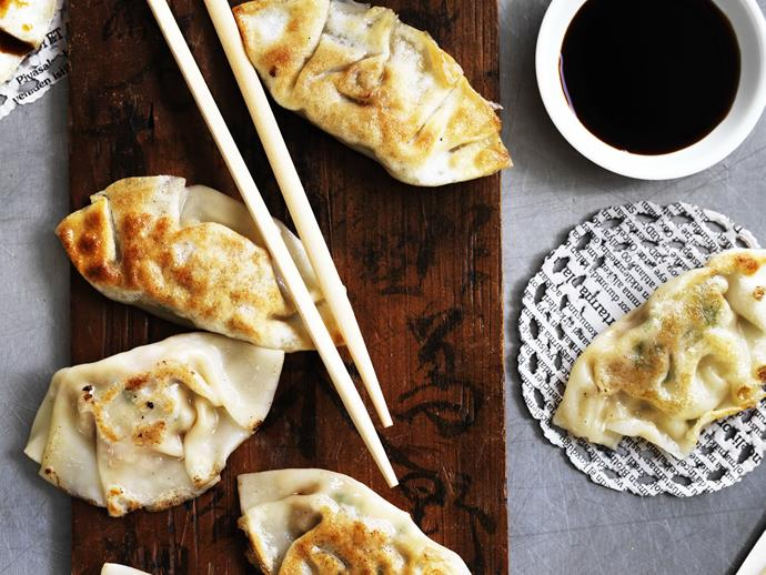 """**[Gyozas](https://www.womensweeklyfood.com.au/recipes/gyozas-12242