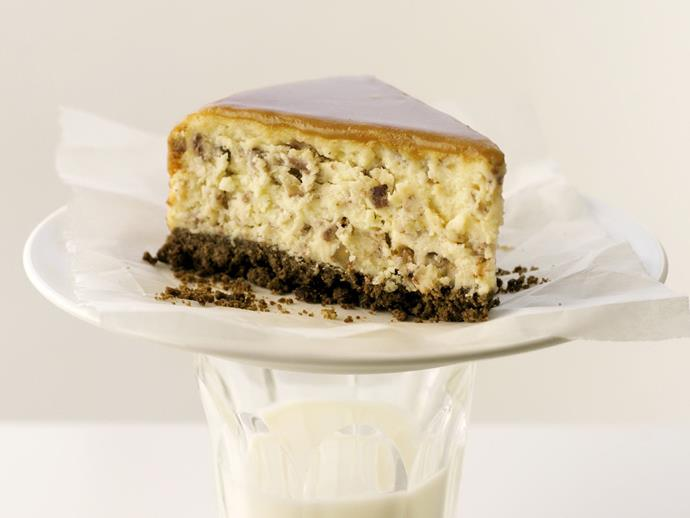 """**[Butterscotch pecan cheesecake](https://www.womensweeklyfood.com.au/recipes/butterscotch-pecan-cheesecake-12319