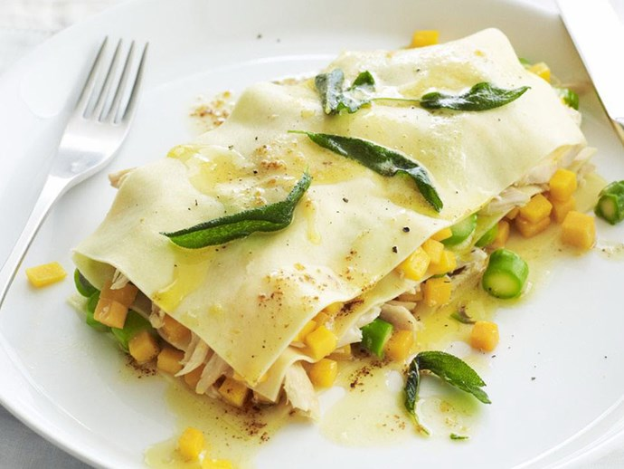 CHICKEN, PUMPKIN & SAGE LASAGNE STACKS