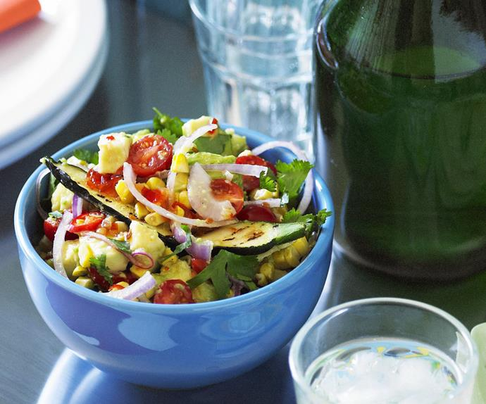 grilled corn and zucchini salsa