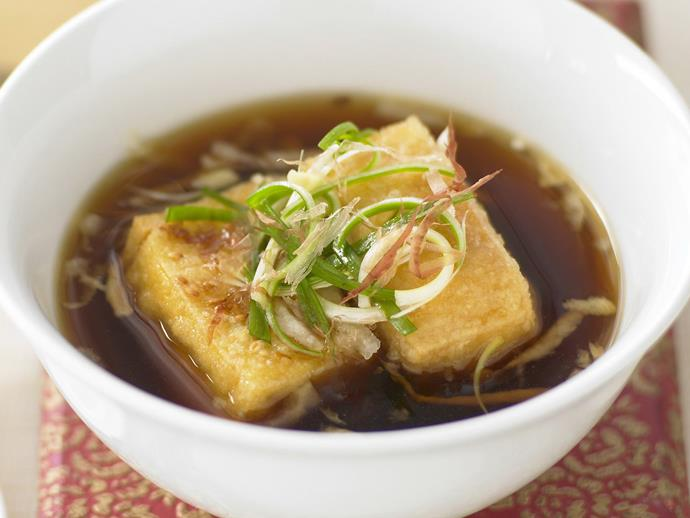 """**[Agedashi](https://www.womensweeklyfood.com.au/recipes/agedashi-tofu-11994