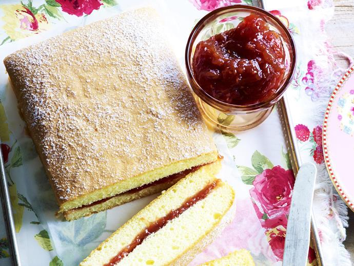 """**[Rhubarb and raspberry jam](https://www.womensweeklyfood.com.au/recipes/rhubarb-and-raspberry-jam-12008
