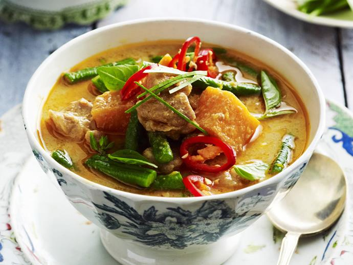 "A fragrant [red curry with slow-cooked pork](https://www.womensweeklyfood.com.au/recipes/red-pork-curry-11560|target=""_blank"") that will melt in your mouth."