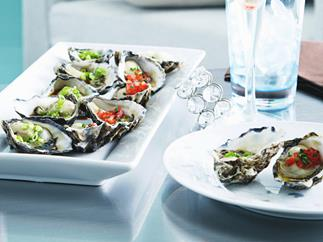 oysters with two dressings