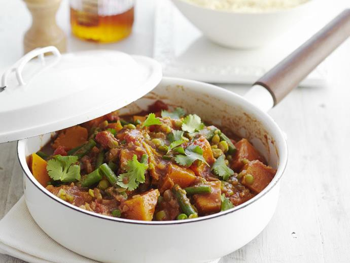 """**[Pumpkin and split pea tagine](https://www.womensweeklyfood.com.au/recipes/pumpkin-and-split-pea-tagine-4838