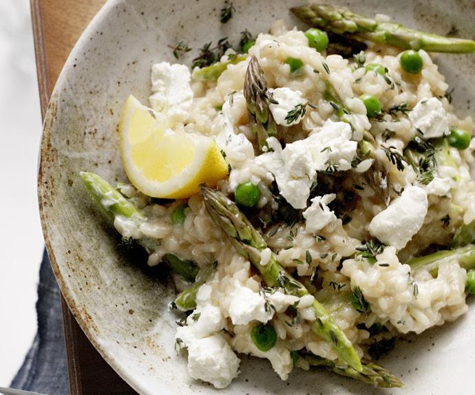 asparagus and goat cheese risotto