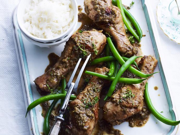 "**[Jerk-spiced chicken drumsticks](https://www.womensweeklyfood.com.au/recipes/jerk-spiced-chicken-drumsticks-11227|target=""_blank"")**  Slow-cooked in jerk seasoning, these drumsticks are tender and delicious, gorgeous as a starter or to hand around at a party."