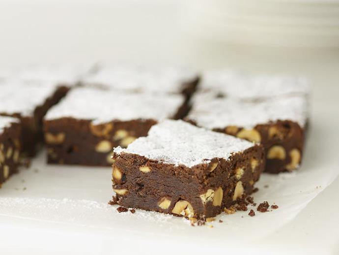 "These deliciously moist and sweet [roasted hazelnut brownies](https://www.womensweeklyfood.com.au/recipes/roasted-hazelnut-brownies-15000|target=""_blank"") are so rich you'll need just a half-slice with your morning tea to be completely satisfied. Save the other half for afternoon tea!"