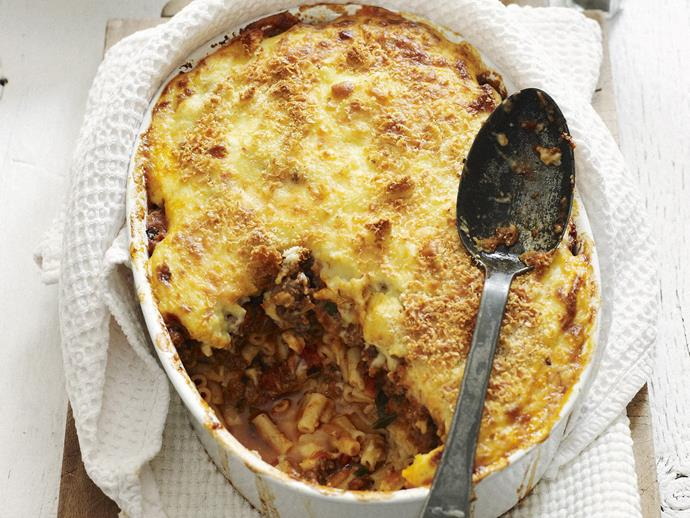 """**[Pastitsio](https://www.womensweeklyfood.com.au/recipes/pastitsio-4536