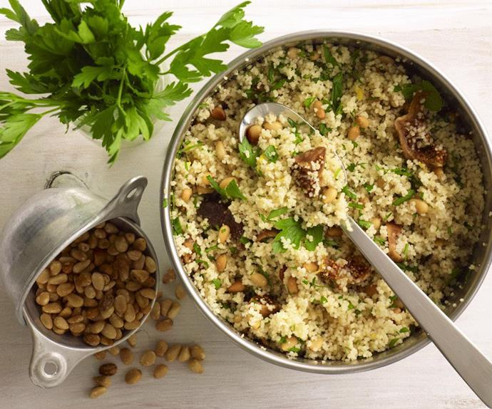 pine nut and dried fig couscous