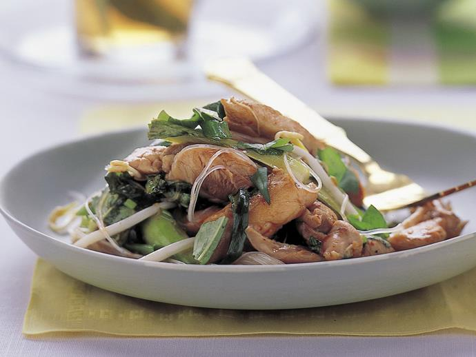 """**[Thai chicken noodle stir-fry](https://www.womensweeklyfood.com.au/recipes/thai-chicken-noodle-stir-fry-11011
