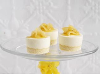 pineapple and coconut cheesecakes