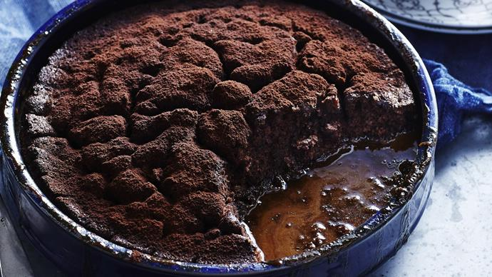 tiramisu self-saucing pudding