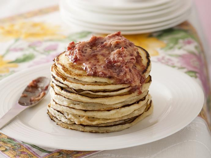 "Thrill your family and friends this weekend with stacks of these delectable [buttermilk pancakes with raspberry butter](https://www.womensweeklyfood.com.au/recipes/buttermilk-pancakes-with-raspberry-butter-15033|target=""_blank""). The buttermilk adds tenderness and lightness to the batter and results in deliciously soft texture."