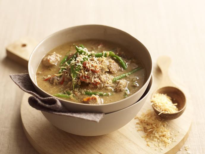 "Fresh curry leaves and fenugreek seeds add extraordinary flavours to this [spicy tamarind pork curry](https://www.womensweeklyfood.com.au/recipes/tamarind-and-coconut-pork-curry-11132|target=""_blank""), while coconut cream adds depth and creaminess."