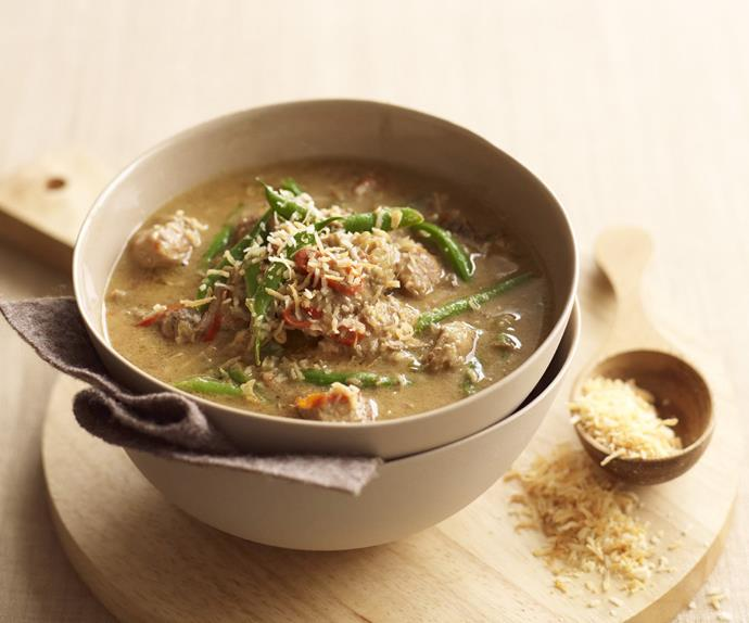 tamarind and coconut pork curry