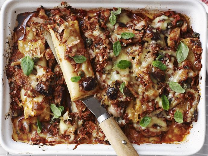 "For something a little more fancy this [spicy tuna pasta bake](https://www.womensweeklyfood.com.au/recipes/spicy-tuna-pasta-bake-4433|target=""_blank"") will get you there."