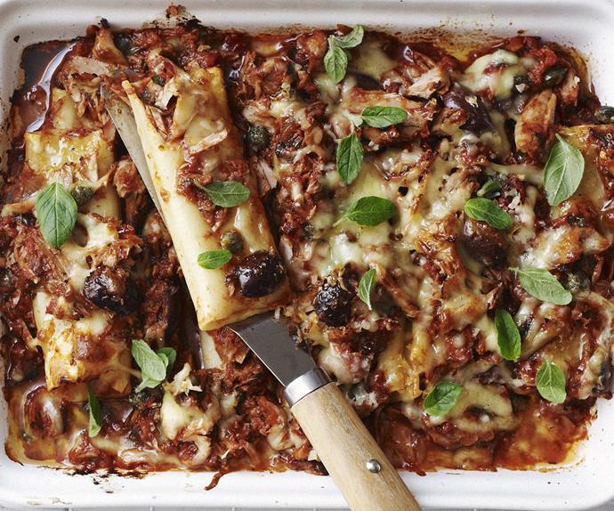 spicy tuna pasta bake