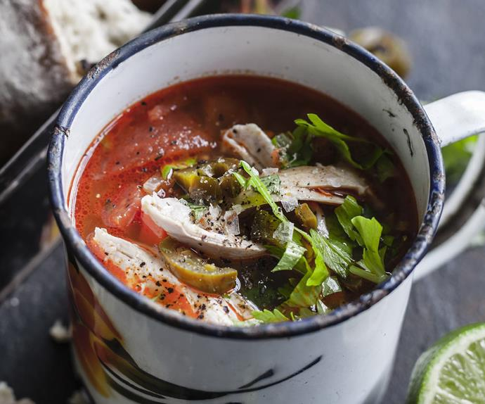 spicy mexican soup with chicken