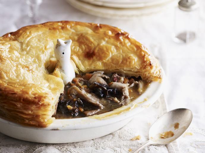 "**[Duck and mushroom pie](https://www.womensweeklyfood.com.au/recipes/duck-and-mushroom-pie-10673 target=""_blank"")**"