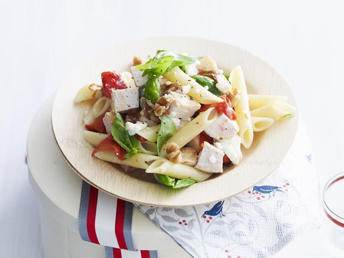 "**[Chicken pasta salad](https://www.womensweeklyfood.com.au/recipes/chicken-pasta-salad-10691|target=""_blank"")**  Chicken pasta is a quick, easy and tasty meal that all the family will enjoy and can easily be packed into a school lunch box."