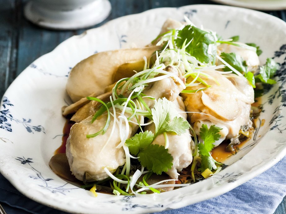 "Like with serving a whole fish, whole steamed chicken represents family. The claws are also served, to help those who eat them grasp onto wealth, and eating [chicken wings](https://www.womensweeklyfood.com.au/recipes/sticky-sesame-chicken-wings-25724|target=""_blank"") will help you achieve more by ""flying higher""."