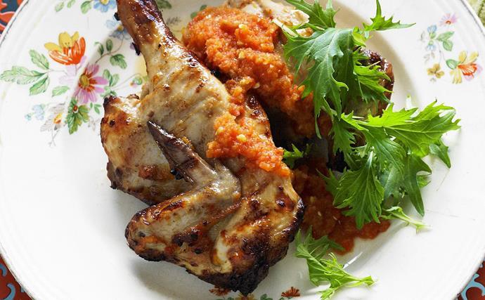 marinated chilli chickens