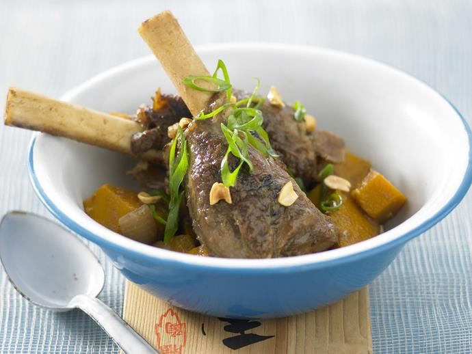 "**[Lamb shanks massaman](https://www.womensweeklyfood.com.au/recipes/lamb-shanks-massaman-10737|target=""_blank"")**  Delicious tender lamb shanks in a rich and mild Massaman curry."