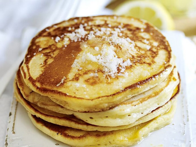 lemon and sugar pancakes