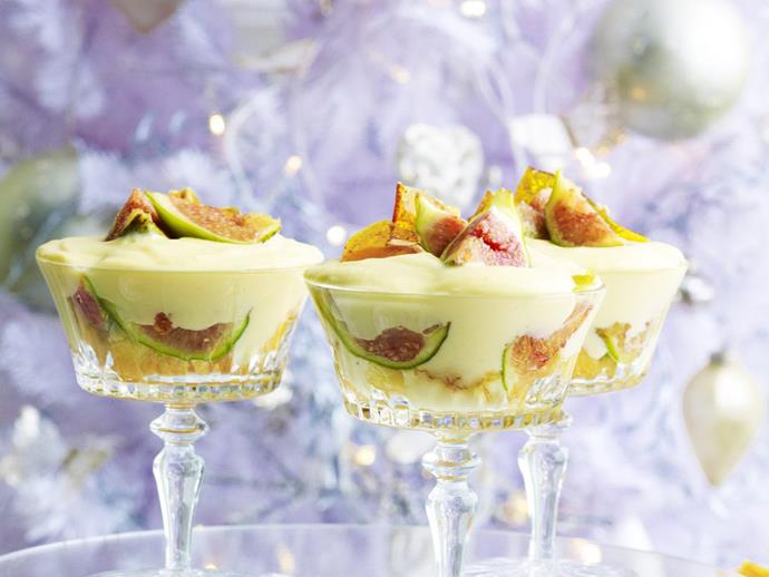 "**[Fig, almond and mascarpone trifle](https://www.womensweeklyfood.com.au/recipes/fig-almond-and-mascarpone-trifle-10774|target=""_blank"")**"