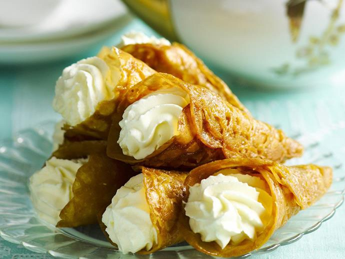 """There is nothing much more delightful than a crisp, [gingery brandy snap](https://www.womensweeklyfood.com.au/recipes/brandy-snaps-15067
