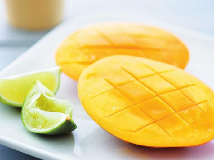 "[Mango hedgehog with lime wedges](http://www.foodtolove.com.au/recipes/mango-cheeks-with-lime-wedges-23293 target=""_blank"")"