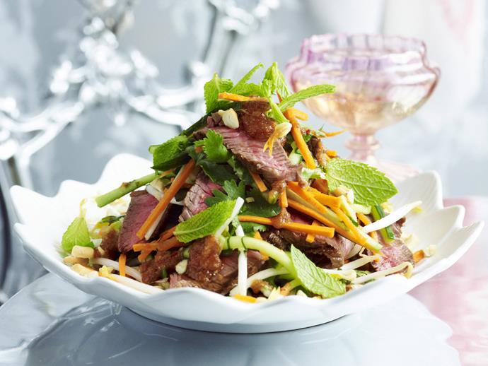 "**Barbecued chilli and tamarind beef** <br><br> This Asian-infused dish is a cool, modern twist on the traditional Christmas lunch.  <br><br> [**Read the full recipe here**](https://www.womensweeklyfood.com.au/recipes/barbecued-chilli-and-tamarind-beef-10325|target=""_blank"")"