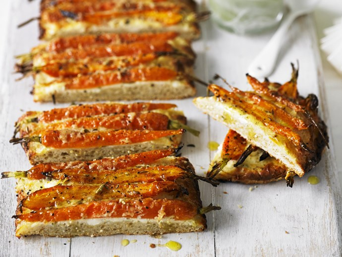 """Try it: [Carrot, feta and quinoa tarts with salsa verde](http://www.foodtolove.com.au/recipes/carrot-fetta-and-quinoa-tarts-with-salsa-verde-23380