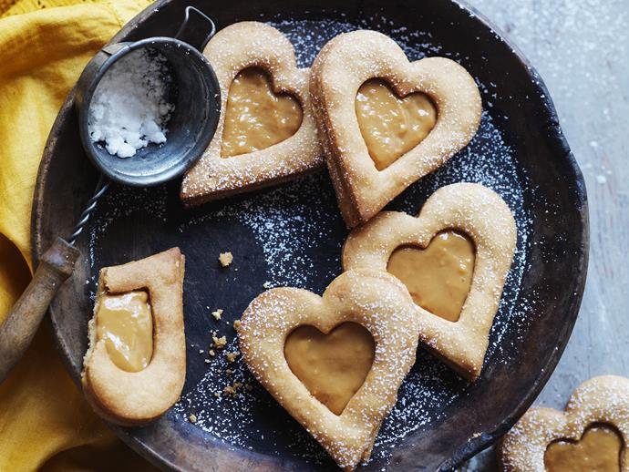 """**[Caramel peanut hearts](https://www.womensweeklyfood.com.au/recipes/caramel-peanut-hearts-10399