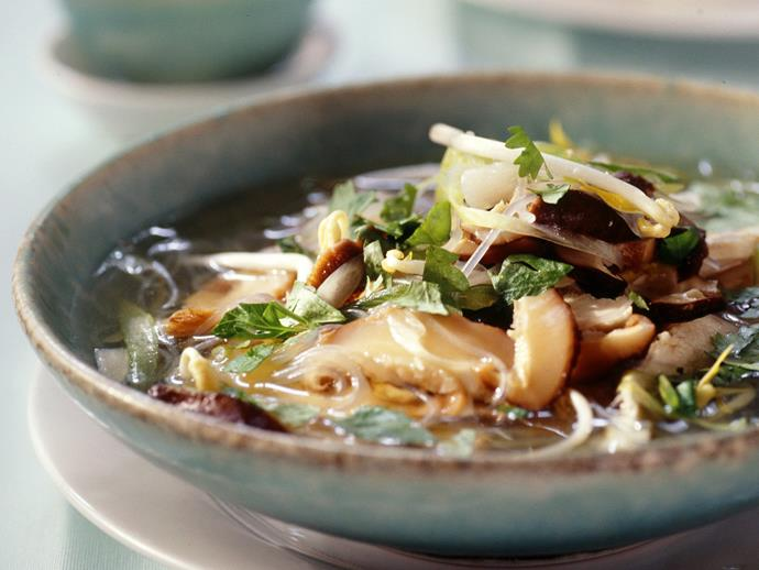 "**[Chicken noodle soup](https://www.womensweeklyfood.com.au/recipes/chicken-noodle-soup-1-10406|target=""_blank"")**"