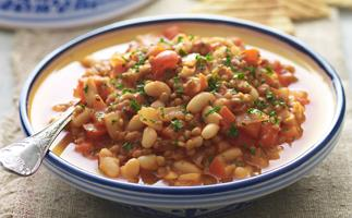 white bean and lentil tagine
