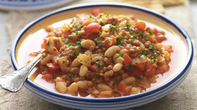 white bean and lentil tagine