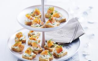 Cute canapes to start your dinner party