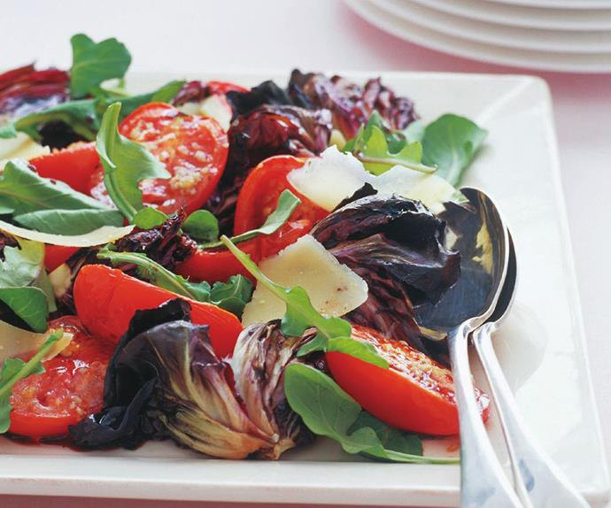 radicchio and tomato salad
