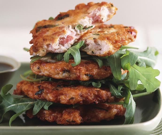 Chicken and ham patties