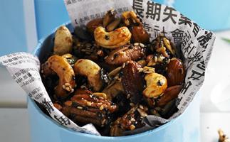 honey soy nuts
