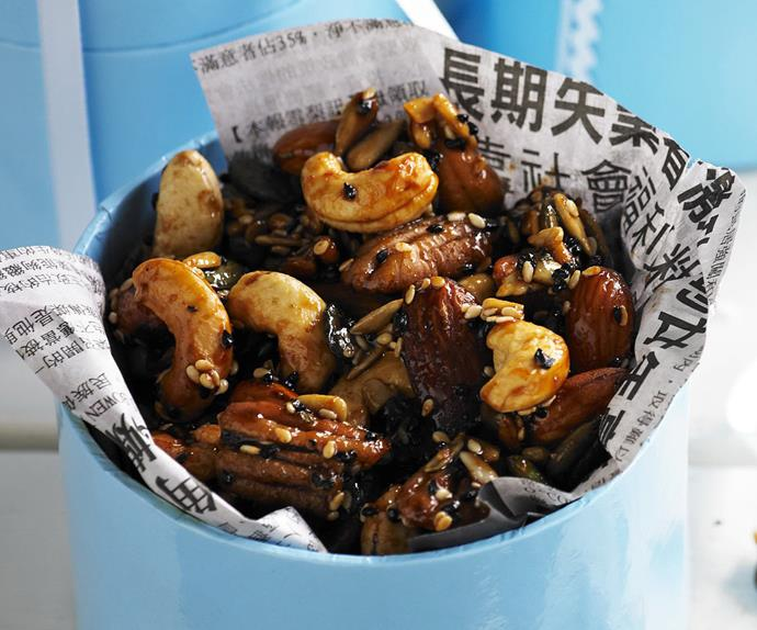 honey soy nuts