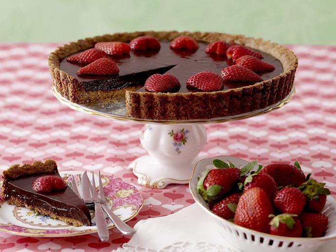 "**[Chocolate strawberry tart](https://www.womensweeklyfood.com.au/recipes/chocolate-strawberry-tart-10205|target=""_blank"")**  Rich chocolate tart topped with luscious fresh strawberries makes a fabulous dessert or afternoon tea treat."