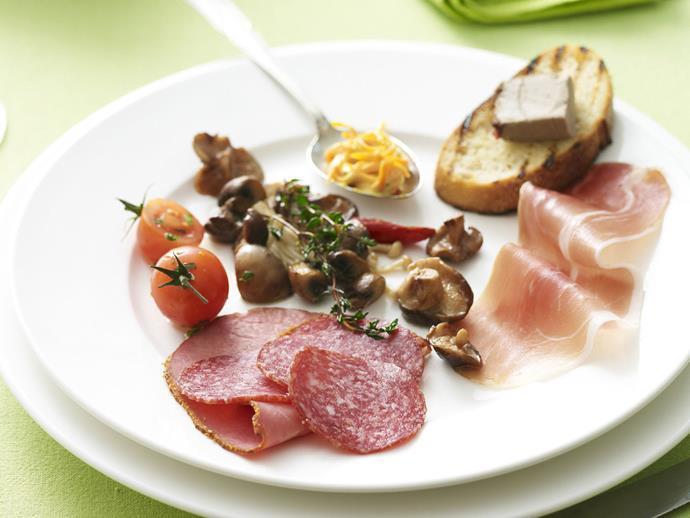"[Charcuterie plate](http://www.womensweeklyfood.com.au/recipes/charcuterie-plate-4131|target=""_blank"")"